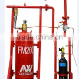 Asenware fm200 fire extinguishing system fighting fire with N2 driving pipe network type