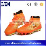 Most Popular Football Shoes New Mesh Leather TPU Sole Soccer Boots For Men