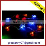 China wholesale new style outdoor moon and stars night light and lighting christmas decorations rope lights