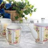 Australia Russian style coffee tea set cup & saucer dinner ware set ceramic melamine coffee set