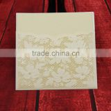Customized free samples Luxury Laser Cut Wedding greeting invitations with arcylic diamonds