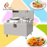 12KW/15KW 380V double wok commercial big power electric induction wok cooker used in hotel restaurent SS12