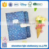 Fashion design style high quality magnetic closure notebook printiing with beautiful blue flower