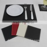 S/8 rectangular faux leather coasters, drink coasters