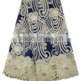 High quality embroidered french lace /net lace fabric