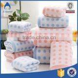 2015 new products hot selling circle dots cotton jacquard bath towel