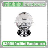 Hot sale crystal diamond cabinet knobs / crystal knobs / crystal cabinet knobs on zinc alloy base