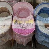 Baby carrier baby moses basket maize basket set wicker basket set cotton fabric embroidery available rocking cradle set