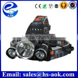 3 XM-L T6 LED Head Lamp - 3200 Lumens, 4 Lighting Modes, Adjustable Head Strap, Battery Charger, Weatherproof