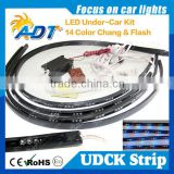 "*4pcs 24""x36"" 7 Colors LED Under Car Glow Underbody System Neon Light Strip Kit"