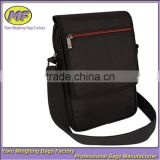 Custom High Quality Multifunction Black Single Shoulder Messenger Carrying Bag for Tablet and Phone and Their Accessories