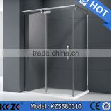 Foshan manufacture modern bathroom large space design safety clear tempered glass shower door