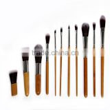 High quality bamboo facial cleansing shaving cosmetic brush set girl makeup wholesale
