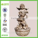 Outdoor Angel Garden Water Fountains Resin Decoration