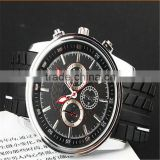 classic Quartz mens watch with silicone band