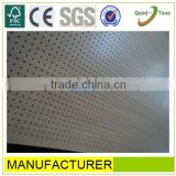maple melamined high quality perforated gypsum ceiling board,perforated acoustic panel board