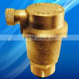 Exhaust valve brass external thread unidirectional automatic release valve