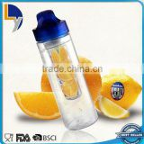New design product Eco-friendly filter fruit infuser portable water bottle with silicone sleeve