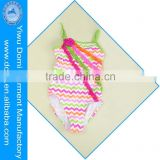 2014 new design the wave pattern children one piece swimsuit lovely baby girl bikini swimwear kid bikini swimsuit