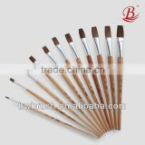 Professional horse hair artists paint brushes