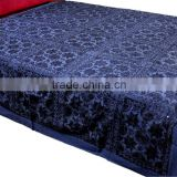 Luxury Indian Bedspread ethnic tribal with REAL MIRROR WORK