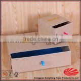 Sliding cardboard brown kraft jewelry boxes with stamped logo