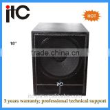 Professional pa 18 inch subwoofer speaker box for sound system