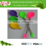 FDA LFGB Standard Silicone Ice Cream Spoon With Stainless Steel Handle