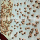 golden plated metal pearl beads various sizes