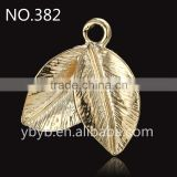 metal 3d leaf pendant Applique garment accessories in trimming -382