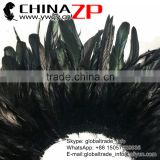 CHINAZP Best Selling Chicken Plume Wholesale Natural Black Half Bronze Rooster Schlappen Feathers Strung