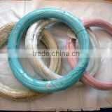 factory price 12 gauge pvc coated red green blue tie wire