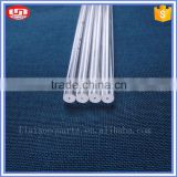 transparent polished quartz glass rods from chinese manufacturer