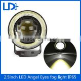 Auto fog daytime running light double Halo Rings RGB COB eagle eye light