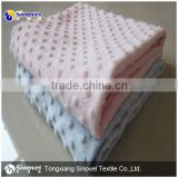 China factory wholesale SGS ultra soft dot minkee fabric, minky dot fabric for baby blanket and pillow