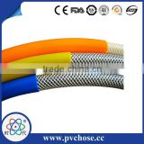 black fuel hose pipe / reinforced heavy duty pvc air hose / pvc braided hose pipe air pneumatic