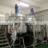 GMP standard stainless steel daily chemical homogenizing mixing reactor with jacketed vessel