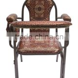 Assembled Folding & Knocked Down Muslim Prayer Chair for Elder - with Prayer Pad & Koran Pocket