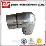 factory price stainless steel handrail fitting 90 degree elbow pipe connector supplier