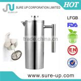 high quality double wall stainless steel french coffee press (0.35L,0.8L,1.0L)