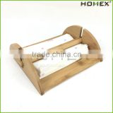 Bamboo Cocktail Napkin Caddy Holder with Bar Homex BSCI/Factory