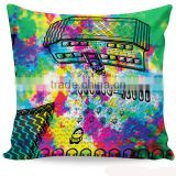 OEM 100%polyester plain cotton throw pillow cover