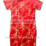red chinese cheongsam