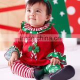 Newest Fancy Boutique Xmas baby clothes Sets Cute cotton long sleeve baby suits for kids clothing