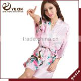 2015 wedding women silk bridal party robes sexy bride pajamas RS1-0012