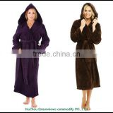 Wholesale bathrobe for women coral fleece bathrobe coral fleece hooded robes soft bath robes hotel robes