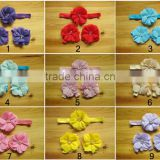 New Arrival flower making sandals cute pearl elastic headband baby headband