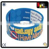 I HAVE ALLERGIES Writable AllerMates Silicone Wristband for Kids - Size M/L