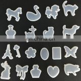 19pcs/set UV Glue AB Crystal Dripping Clay Abrasive Liquid light Therapy 3D Stereo Cute Animals Silicone Molds