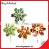 2015 Hot Flower Shape Windmill For Garden Flower Windmill